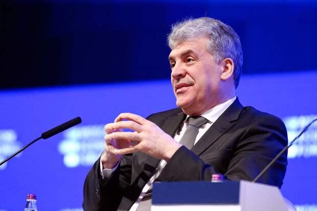 Грудинин заявил, что готов составить конкуренцию преемнику Путина на выборах президента в 2024 году