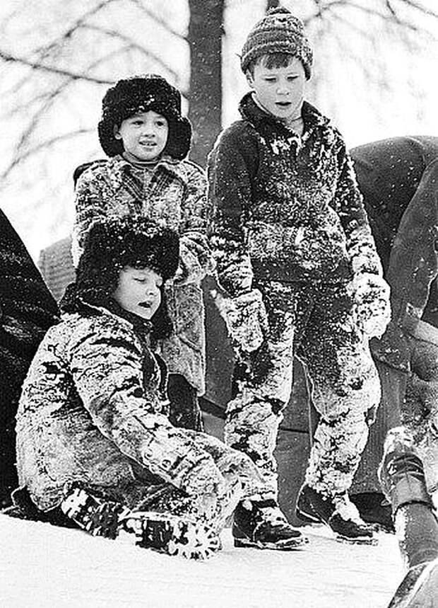 Настоящая зима СССР, детство, фотографии