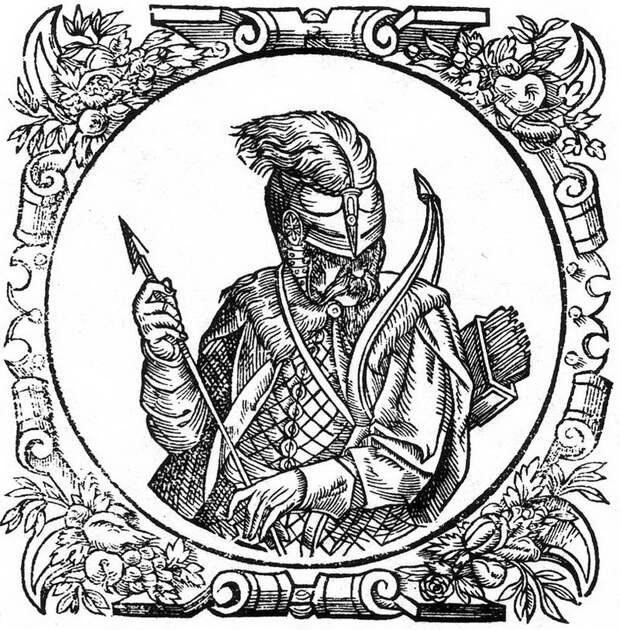 Традиционное изображение князя Свидригайло. Гравюра из «Описания Европейской Сарматии» Гваньини (1581 год). Эта гравюра использована в том же издании и как портрет Людовика Венгерского. ru.wikipedia.org - Свидригайловы войны: завязка | Warspot.ru