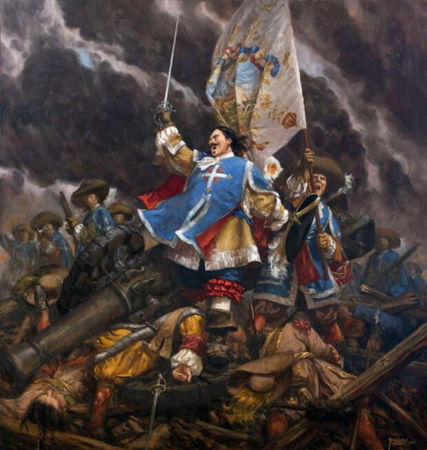 Д'Артаньян со своими мушкетёрами штурмует равелин - Осада Маастрихта: люди и цифры | Warspot.ru