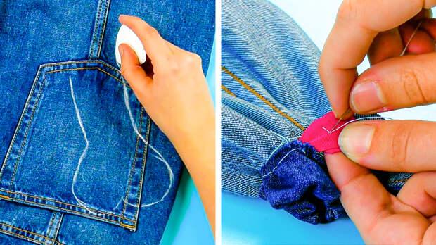 Три чудесные идеи вторичного использования старых джинсов
