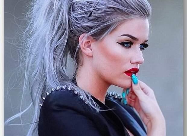 серые оттенки волос, оттенки серых цветов волос, оттенки серого цвета волос, серые оттенки волос фото