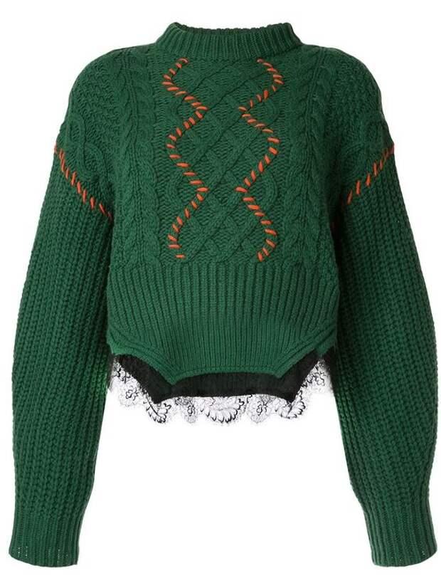 как сделать своими руками вязаный нарядный свитер