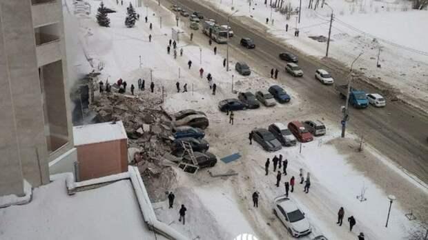 Появились первые кадры с места взрыва в доме в Нижнем Новгороде
