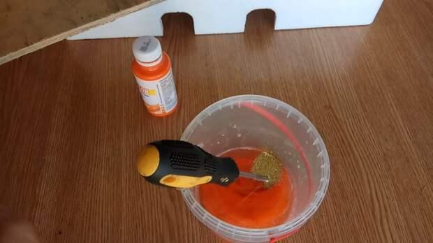 Очень интересный эксперимент: делаем краску из… пенопласта