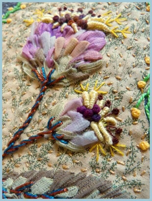 Вышивка цветов: изумительные идеи 4