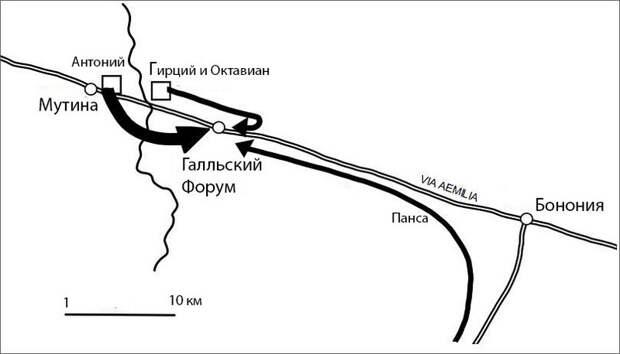 Осада Мутины - Гражданские войны Рима: Антоний против сил сената | Warspot.ru