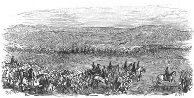 Армия Фридриха II на марше в Силезию.