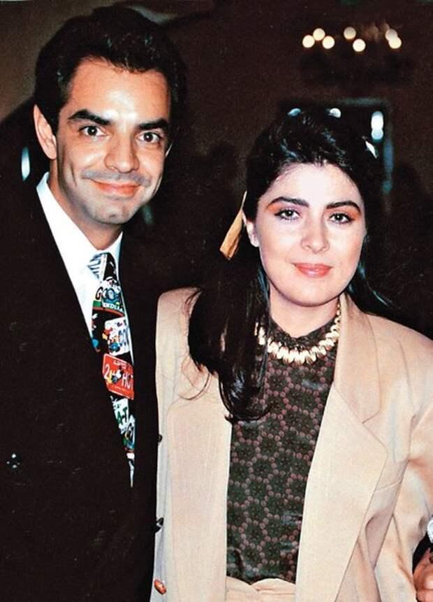 С бывшим мужем Эухенио Дербесом, который оказался альфонсом