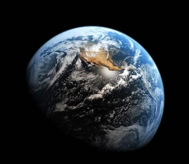 2013. Вид Земли, снятый космическим телескопом Хаббл