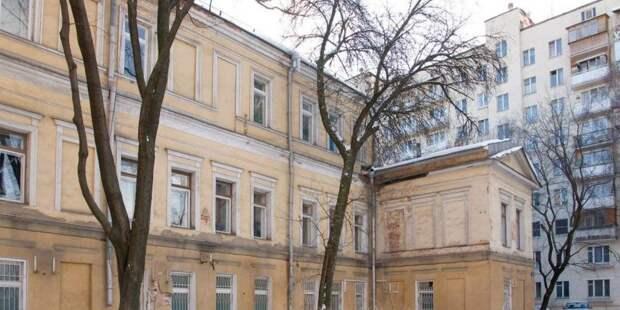 Собянин осмотрел итоги реставрации здания в Хохловском переулке