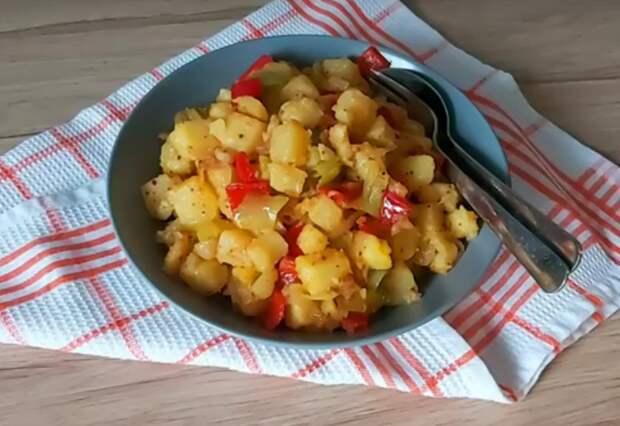 Ароматная картошка с овощами