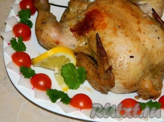 Курица в горчично-соевом соусе