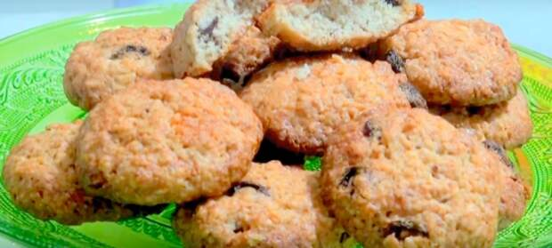домашнее печенье из овсяных хлопьев в духовке