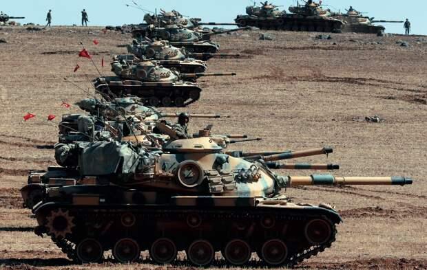 Несколько десятков турецких танков будут штурмовать город Айн-Исса в Сирии
