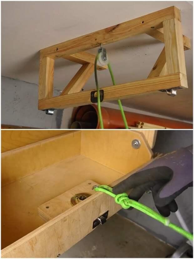 Вместо троса можно использовать крепкую веревку или канат. | Фото: youtube.com/ © Men's Craft.