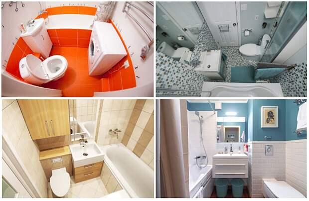 Ванная комната в хрущевке — идеи дизайна с фото
