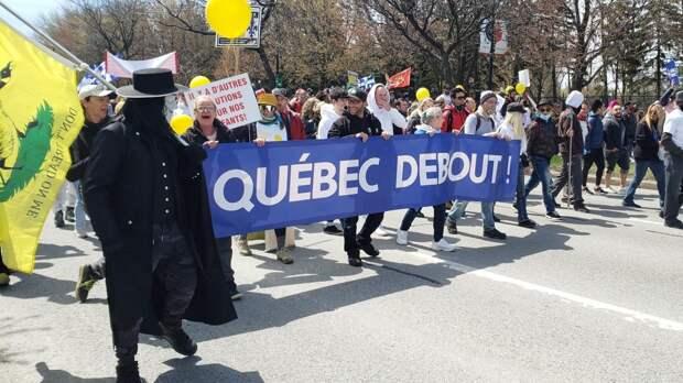 Канадский Монреаль вышел на протесты против коронавирусных ограничений