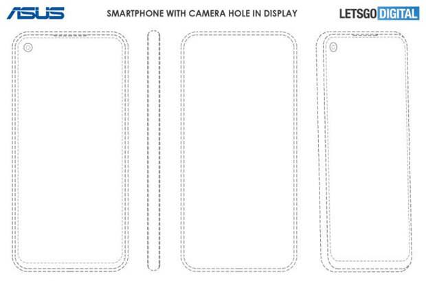 Asus запатентовала смартфон с выдвигающейся камерой