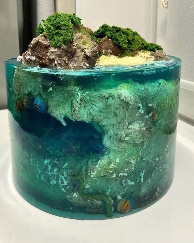 Торт с желе
