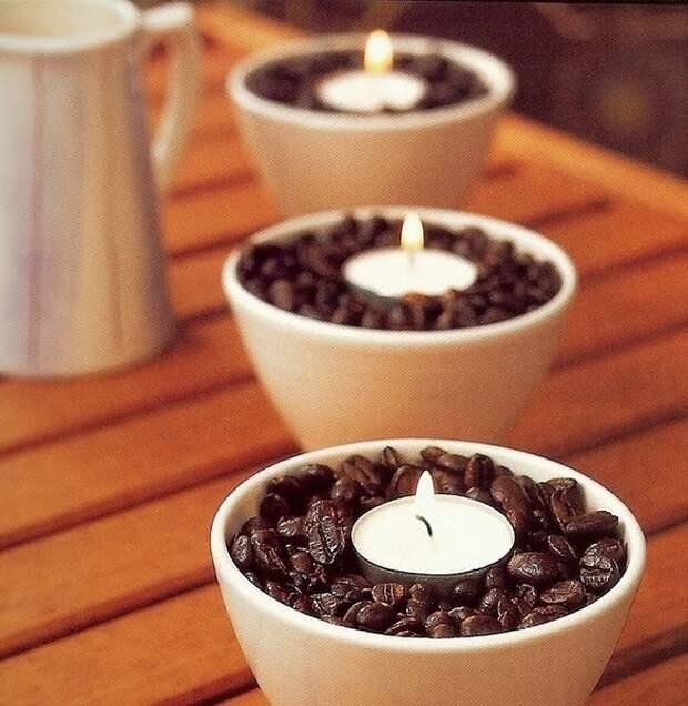 Ramekins, кофе в зернах и чай света