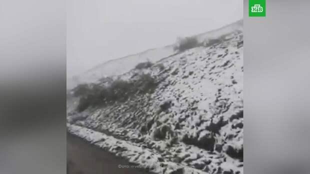 Летний снег снова выпал в Магаданской области