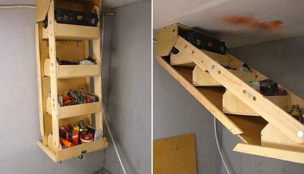 Подвесная система хранения для гаража и не только: мастер-класс от умельца
