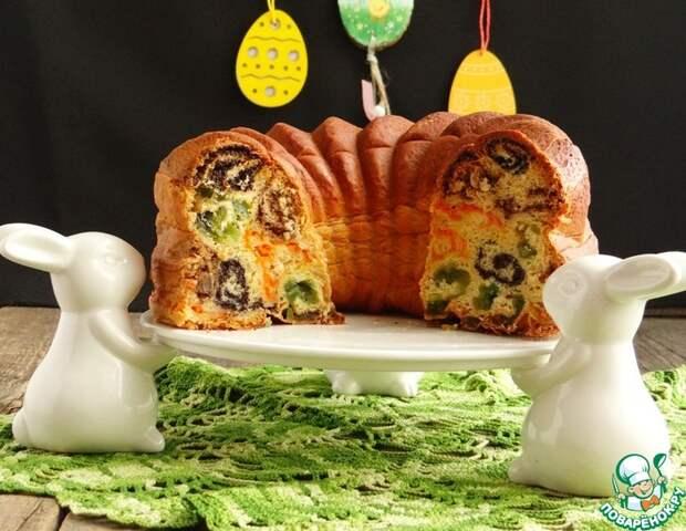 Рецепт: Пирог Разноцветные кружева