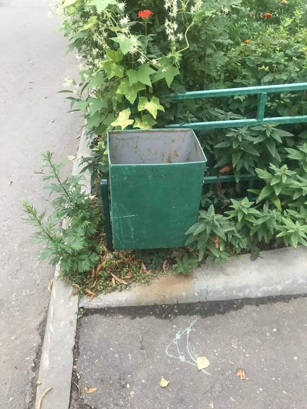 По просьбам жителей урну на Академика Комарова вернули на место