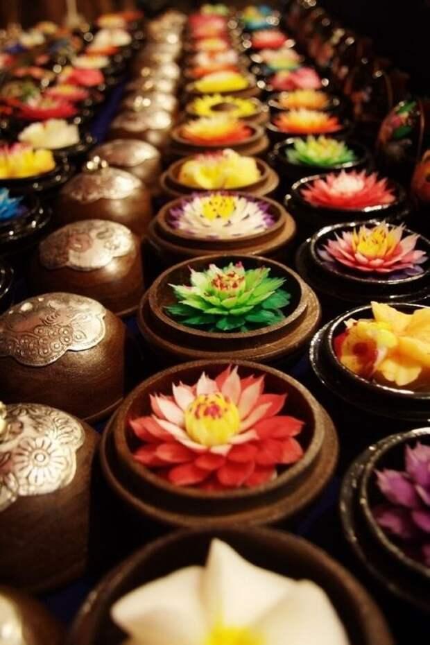 Удивительные тайские цветы из мыла