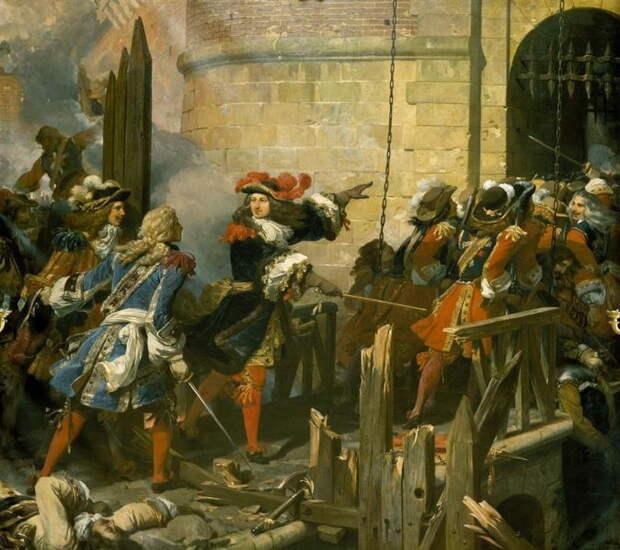 Штурм Валансьенна в марте 1677 года. Художник Жан Ало, 1678 или 1679 год - Архитектор побед Короля-Солнца   Warspot.ru
