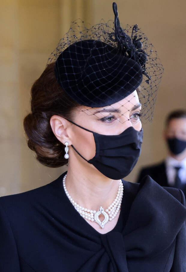 Кейт Миддлтон на похоронах принца Филиппа