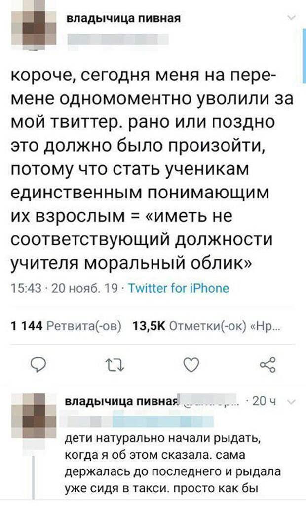 4 главных факта про учительницу Любовь Фролову, которую уволили из-за Твиттера