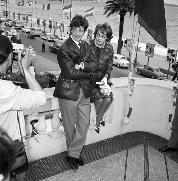 Французы Жанна Моро и Жан-Поль Бельмондо, 1960.