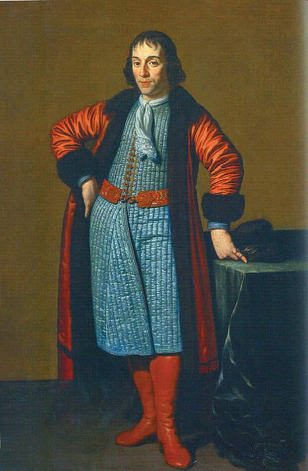 М. ван Мюссхер. Портрет А. Меншикова, написанный в Голландии во время Великого посольства (1698).