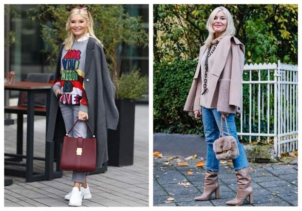 Какую обувь надо носить с пальто, а какую с курткой? Стильные образы для женщин 50+