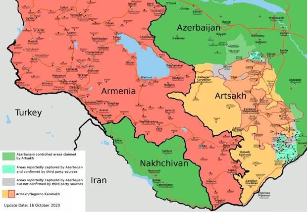 Карабах. 16.10.2020. Вечер.