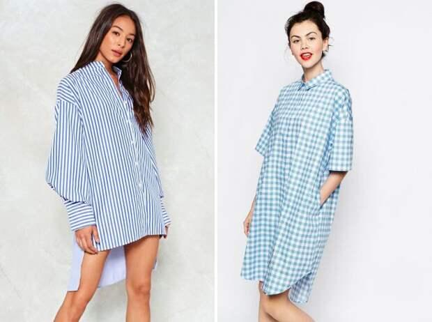 платья рубашки 2018 оверсайз