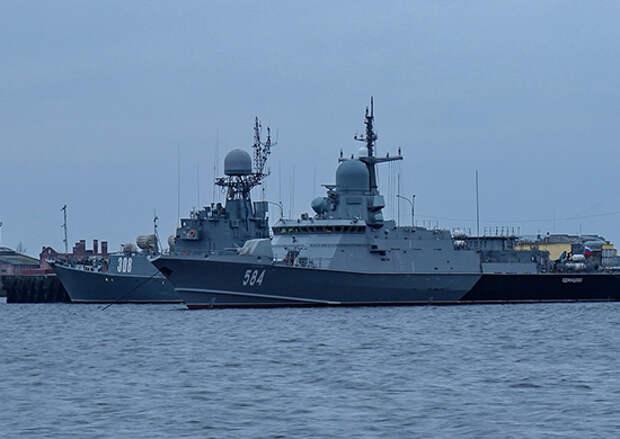 Корабли Балтийского флота приняли участие в акции «Луч Победы»