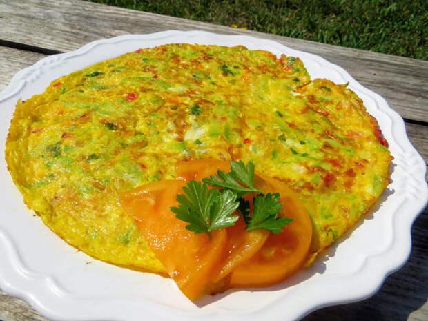 Идеальный летний завтрак - омлет с кабачком и овощами Еда, Вкусно, Готовка, Омлет, Рецепт, Видео рецепт, Другая кухня, Длиннопост, Кабачок, Видео