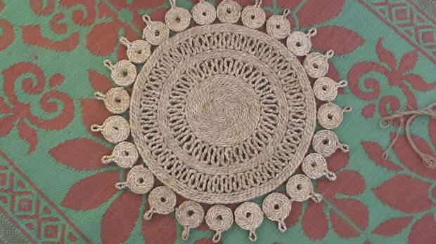 Супер-простая техника создания стильного коврика из джута
