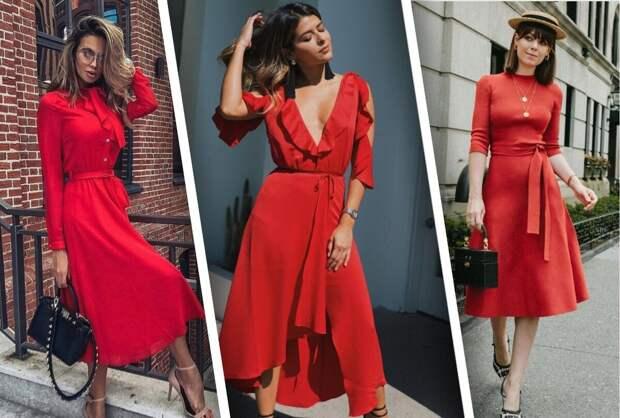 Вечная классика: красное и страстное платье