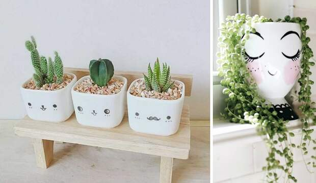 вазы из баклажек