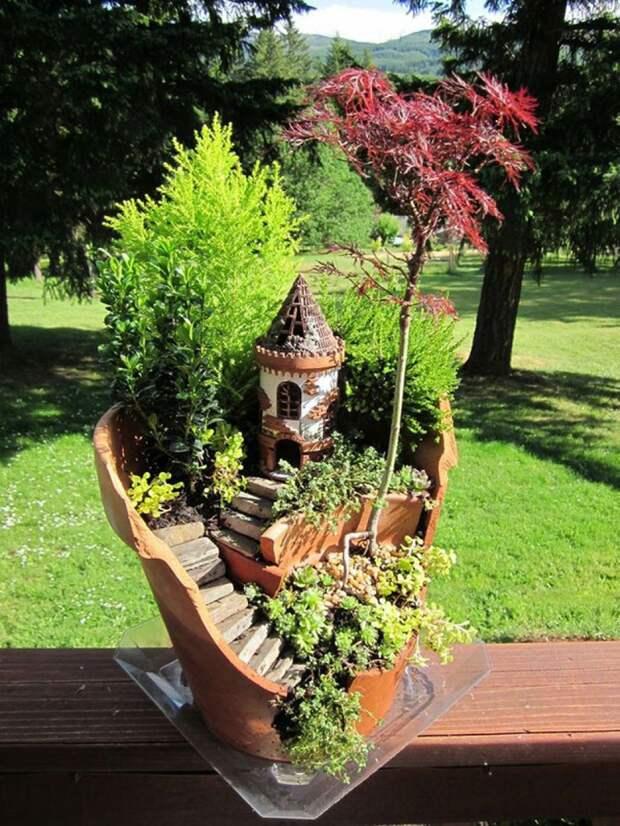 Миниатюрный сад на окошке