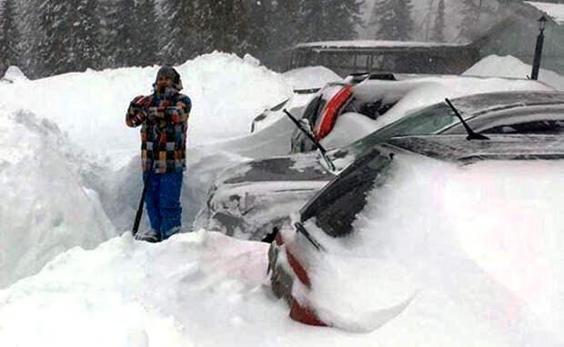 Новосибирцев заблокировал в Шерегеше мощный снегопад