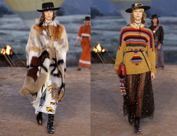 Грубая кожа и нежный фатин - новая женственность Dior.