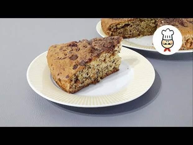 Ореховый пирог с изюмом и шоколадом
