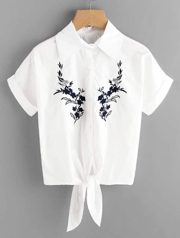 Блузка с вышивкой - идея