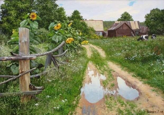 Деревенская простота и красота в работах Татьяны Черных (14 фото)