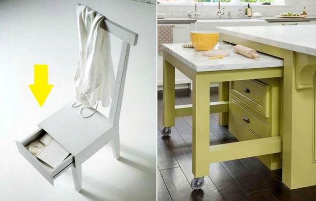 Многофункциональная мебель, которая экономит место в квартире.